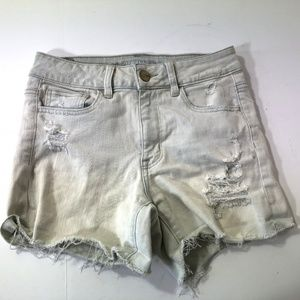 American Eagle Hi Rise shortie sz 4 distressed sho